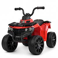 Детский квадроцикл Bambi M4137EL-3 цвет красный для девочки мальчика от 1 года до 4 лет