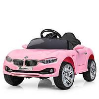 Детский электромобиль Машина «BMW» M 3175EBLR8 розовый для девочки  2 3 4 5 6 лет машинка БМВ