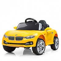 Детский электромобиль Машина «BMW» M 3175EBLR6 желтый для девочки мальчика  2 3 4 5 6 лет машинка БМВ