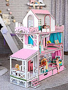 """Большой набор """"ЛЮКС"""" кукольный домик NestWood с мебелью и аксессуарами, фото 3"""