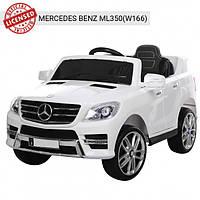 Детский электромобиль Машина Джип Mercedes белый для мальчика девочки 2 3 4 5 6 лет 3568EBLR-1