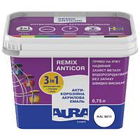 Антикорозійна акрилова емаль 3в1 AURA Anticor 0,75л білий