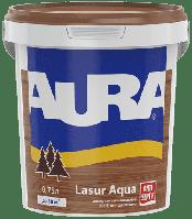 Лазурь-лак акриловый для древесины AURA Lasur Aqua (каштан) 0.75 л