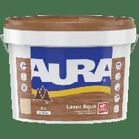 Лазурь-лак акриловый для древесины AURA Lasur Aqua (кипарис) 9 л