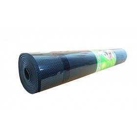 Коврик Мат Для Йоги Фитнеса Гимнастики Metr Чёрный Йогамат 173*61*0,6 см. (0380-3В)