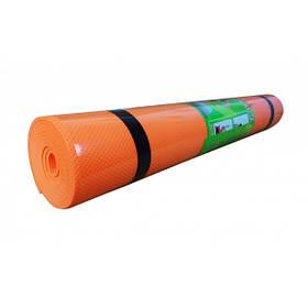 Коврик Мат Для Йоги Фитнеса Гимнастики Metr Оранжевый Йогамат 173*61*0,6 см. (0380-3О)