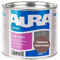 Грунтовка антикорозионная алкидная AURA ГФ-021 красно-коричневая 0.9 кг