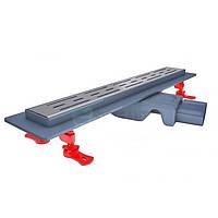 Трап для душа 80см сухой затвор 54мм монтажная висота поворотный выход VLD-562330, КОД: 1461506