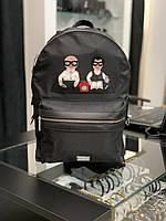 Рюкзак мужской женский Dolce Gabbana|Черный рюкзак Дольче Габбана|Портфель повседневный Dolce Gabbana