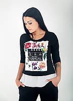 Женская туника - блуза трикотажная, фото 1