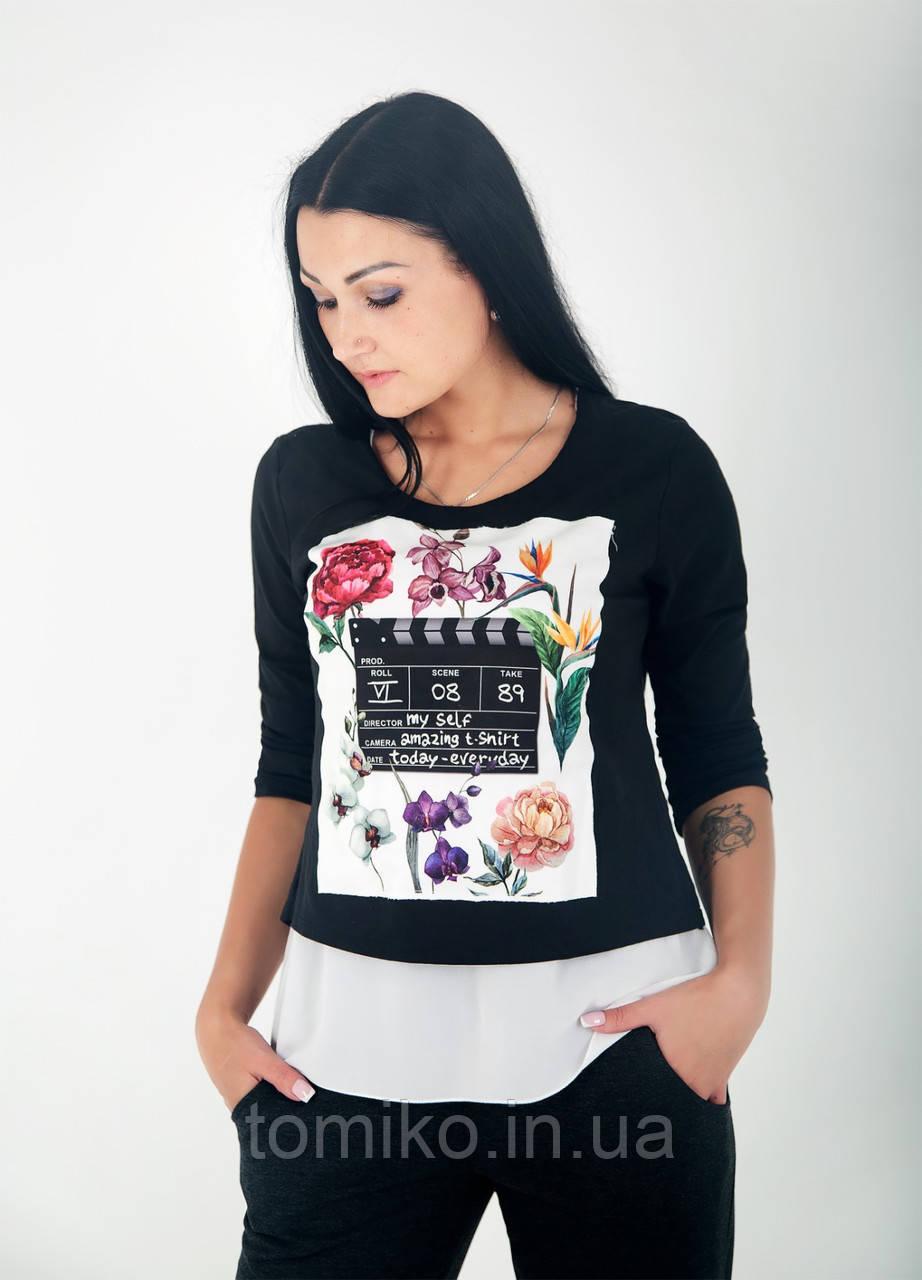 Женская туника - блуза трикотажная