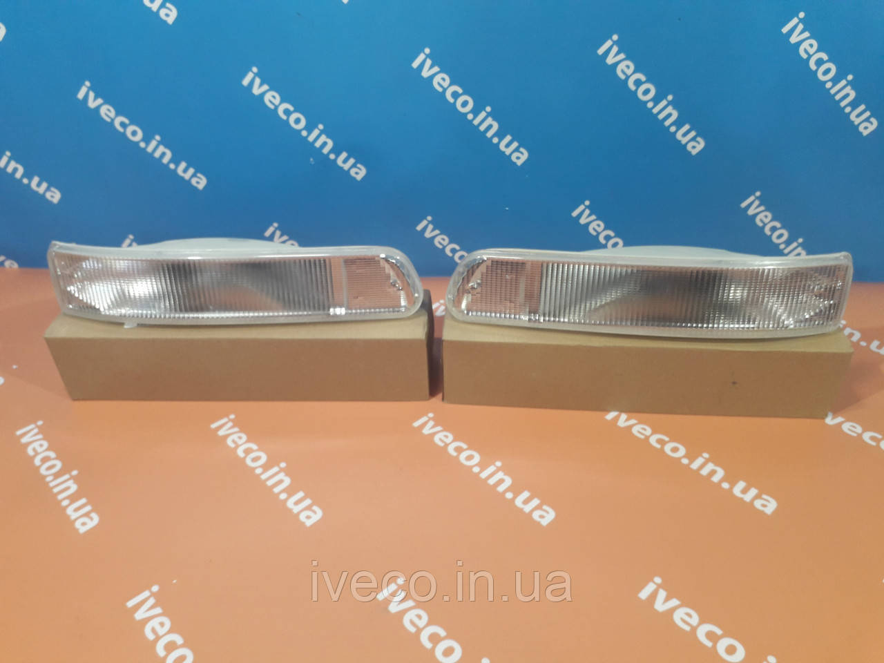Указатель поворота левый IVECO STRALIS TRAKKER поворотник , повторитель в бампере 41221041 42555023