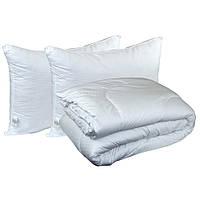Набор одеяло с двумя подушками Руно белый 200х220 см + 2 подушки (50х70 см)
