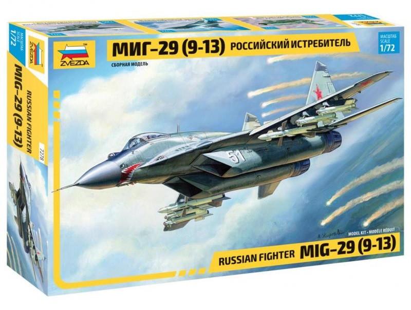 """Сборная модель """"Российский истребитель МиГ-29 (9-13)"""" (масштаб: 1/72) Zvezda (7278)"""