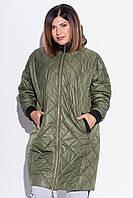 Свободная стёганая куртка с капюшоном (48)