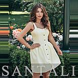 Платье с пышной юбкой с кнопками по всей длине и на бретелях 45031266, фото 2