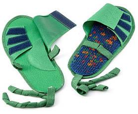 Аплікатор Ляпко Устілка Плюс 5,0 Ag розмір 40-43 голчастий масажер для стоп, ніг з тапочками Синій