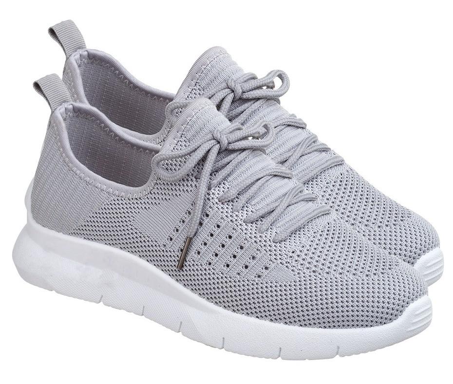 Летние женские кроссовки из серого вентилируемого текстиля GIPANIS 40 р. - 25 см (1201149334)