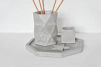 Набор из бетона для декора с подставкой для арома-палочек