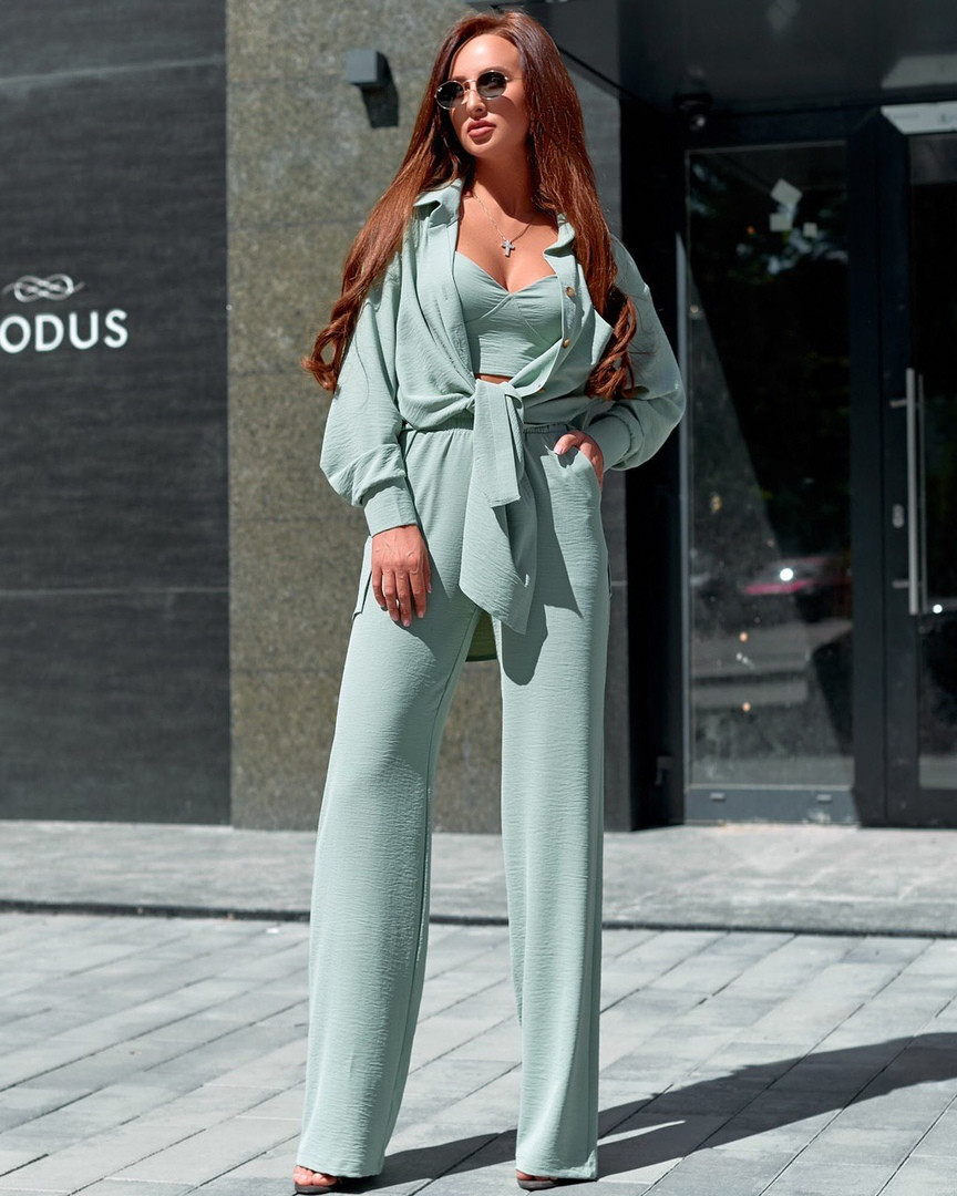 Женский костюм тройка в расцветках АЕ-7-0620