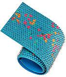 Аппликатор Ляпко 6,2 Ag Квадро размер 118 х 471 мм игольчатый коврик для позвоночника, спины, ног Синий, фото 6