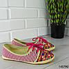 """Мокасины женские, розовые """"Miny"""" текстильные, слипоны женские, кроссовки женские, обувь женская повседневная, фото 2"""