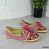 """Мокасины женские, розовые """"Miny"""" текстильные, слипоны женские, кроссовки женские, обувь женская повседневная, фото 3"""