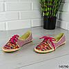 """Мокасины женские, розовые """"Miny"""" текстильные, слипоны женские, кроссовки женские, обувь женская повседневная, фото 4"""