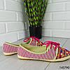"""Мокасины женские, розовые """"Miny"""" текстильные, слипоны женские, кроссовки женские, обувь женская повседневная, фото 5"""