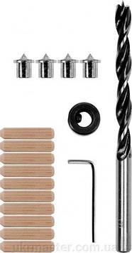 Универсальный набор для соединений на шкантах, 10 мм, набор 17 шт. Yato YT-44113