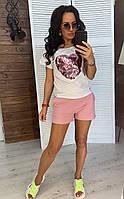 Шорты и футболка женские на лето, фото 1