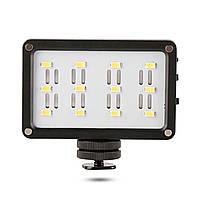 Накамерный свет Ulanzi Cardlite 12 светодиодов + два светофильтра 4058-11811, КОД: 1625529