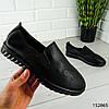 """Мокасины женские, черные """"Faber"""" эко кожа, кроссовки женские, кеды женские, повседневная обувь, фото 3"""