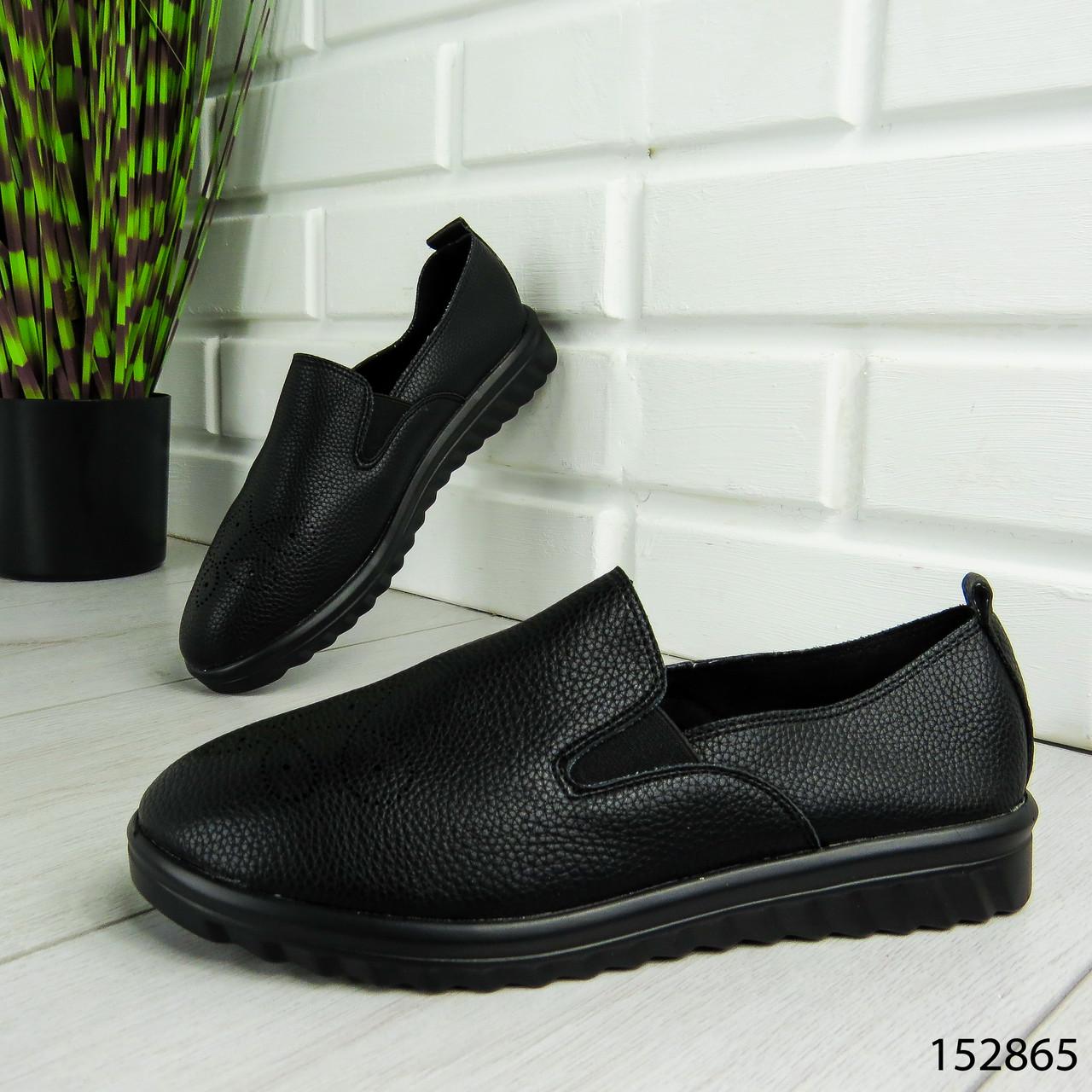 """Мокасины женские, черные """"Faber"""" эко кожа, кроссовки женские, кеды женские, повседневная обувь"""
