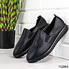 """Мокасины женские, черные """"Faber"""" эко кожа, кроссовки женские, кеды женские, повседневная обувь, фото 5"""