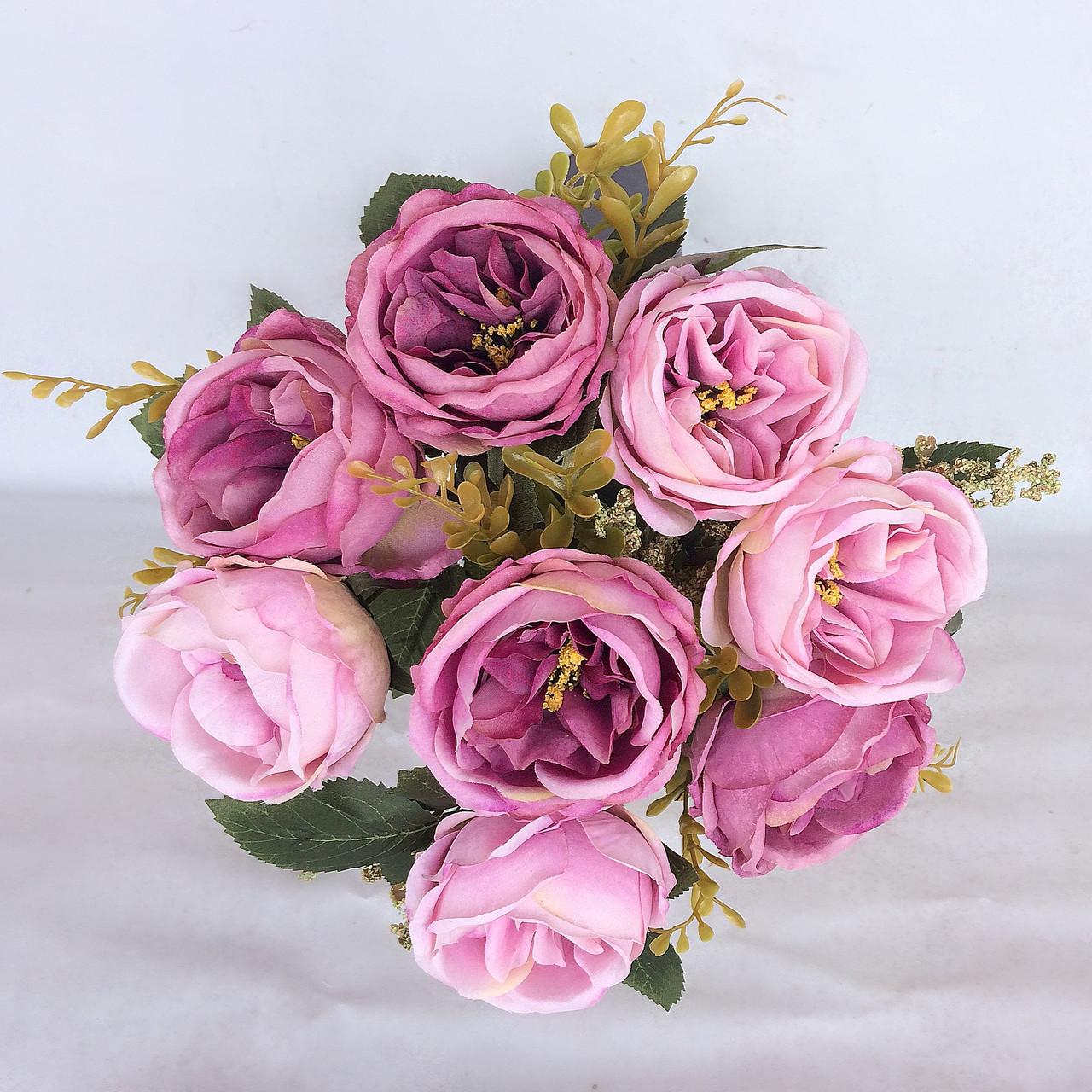 Пионовидная роза Остин сиренево пудровый 46 см