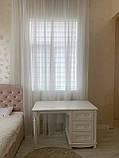 Письмовий стіл білий МДФ (120х65х76 см), фото 3