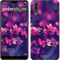 Силиконовый чехол Endorphone на Huawei P20 Пурпурные цветы 2719u-1396-26985, КОД: 1768329