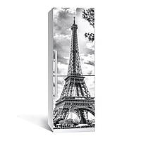 Наклейка на холодильник Zatarga черно-белая Эйфелева башня 650х2000 мм Z180048, КОД: 1804407