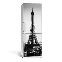 Наклейка на холодильник Zatarga черно-белая Эйфелева башня 01 650х2000 мм Z180049, КОД: 1804556