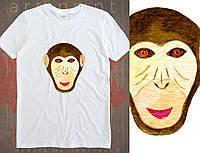 Футболка з цифровим принтом Мавпа., фото 1