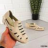 """Босоножки женские, бежевые """"Expli"""" эко кожа, сабо женские, открытые туфли женские, фото 7"""