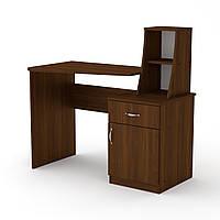 Стол письменный с полками. Письменный стол в детскую. Школьник-3: 1100 мм. в: 750+298 мм мм г: 570 мм