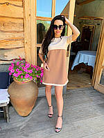 Платье мини женское красивое прямого кроя разные цвета Smkr4404