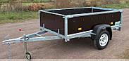 Оцинкованный одноосный бортовой прицеп Кияшко для легкового авто 23PB1103F, фото 5