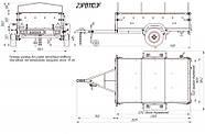 Оцинкованный одноосный бортовой прицеп Кияшко для легкового авто 23PB1103F, фото 10