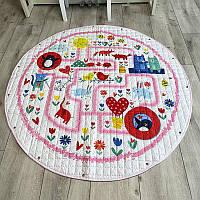 Коврик-мешок для игрушек Зверята - 150 см