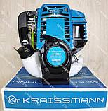 Бензокоса чотиритактних KRAISSMANN 38 VRS 4 мотокоса, фото 4