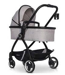Детская коляска 2 В 1 EURO-CART CROX GREY FOX