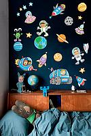 Наклейка виниловая Zatarga Космос 45х73 см Разноцветный Z180041, КОД: 1804175